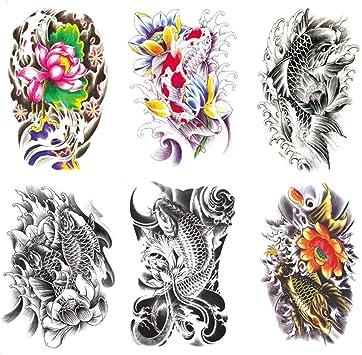 Oottati Impermeable 6 Hojas Tatuaje Temporal Tattoo 21X15cm Old ...