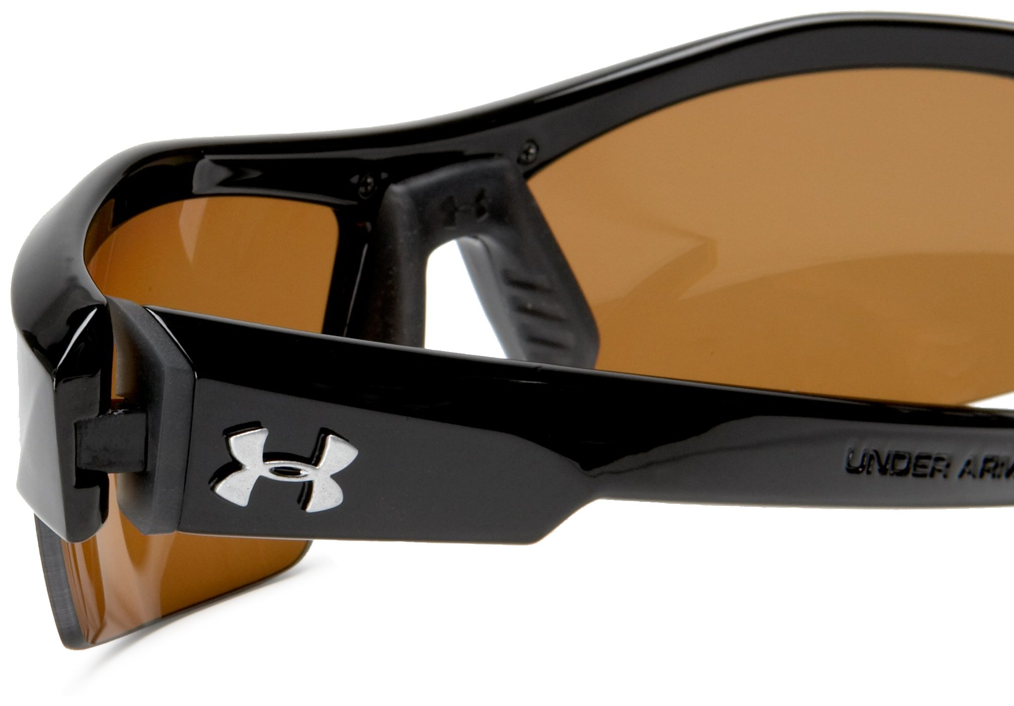 Under Armour Igniter Polarized Multiflection Sunglasses, Shiny Black Frame/Brown Lens, one size by Under Armour (Image #4)