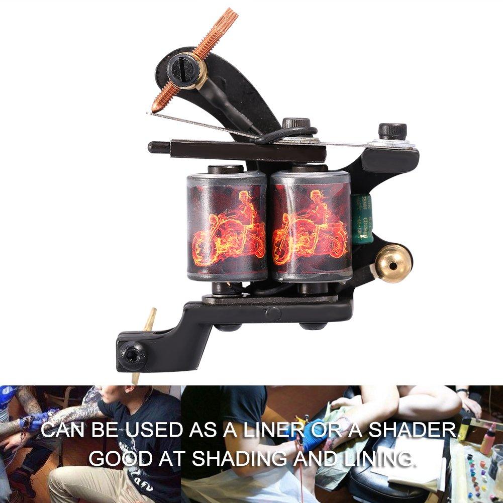 Amazon com: Tattoo Machine, Dragon Fire Pattern Tattoo Gun Shader