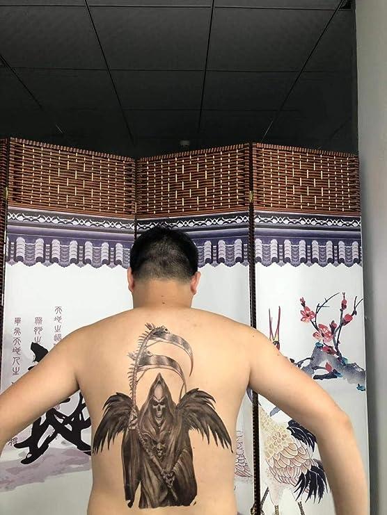 Tatuajes falsos para hombre y mujer, diseño de calavera de Azrael ...