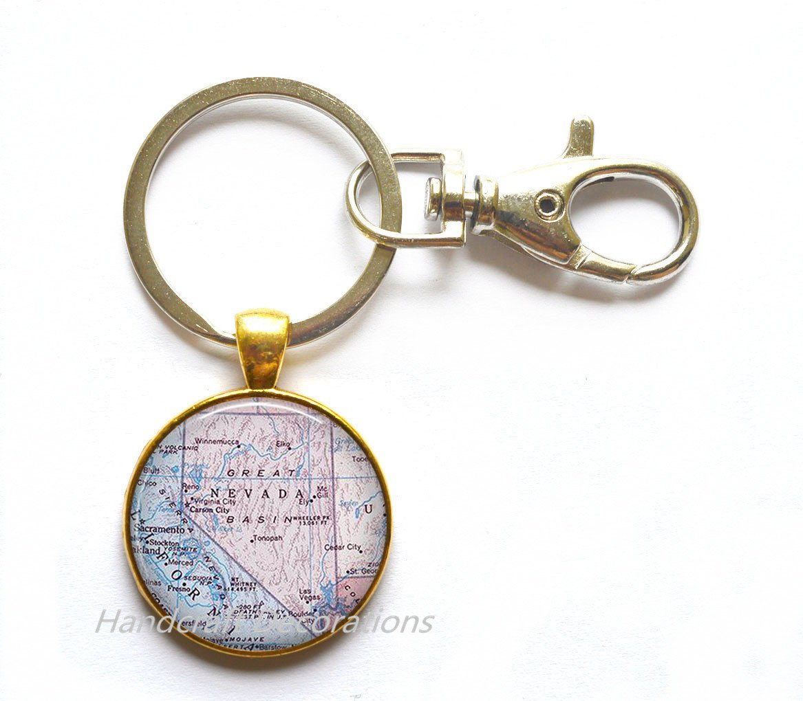 Amazon.com: Charming Keychain,Nevada map Key Ring, Nevada Keychain on nevada on us map, nevada map with capital, nevada road map, nevada river map, nevada physical geography map, las vegas with key, nevada outlines with label,