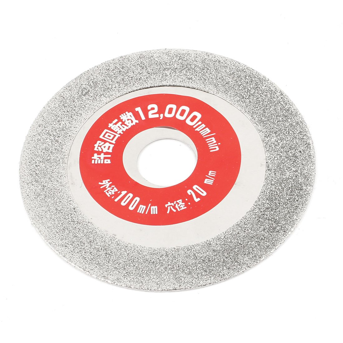 uxcell100mm x 20mm Glass Tile Diamond Grinding Cutting Disc Silver Tone