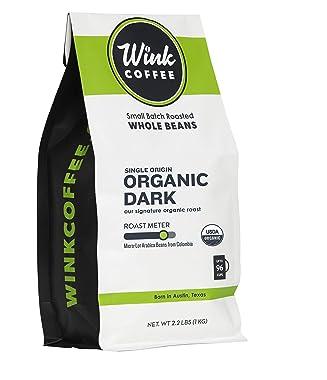 Wink Coffee Organic Dark Roast Whole Bean Coffee