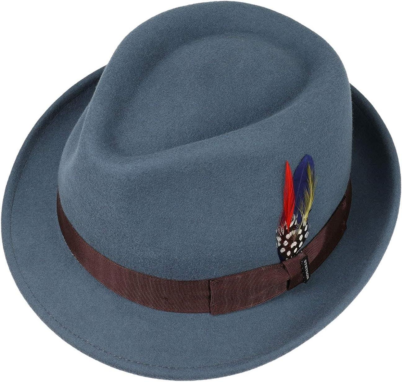 Stetson Richmond Trilby Mujer//Hombre de Hombre Sombrero Mujer con Banda grosgain Verano//Invierno