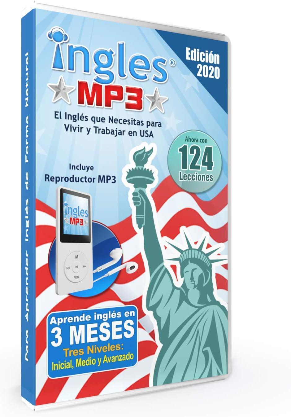 Curso De Ingles Mp3 Aprende Ingles En 3 Meses Curso De Ingles Incluye Reproductor Mp3 Compacto Con 124 Lecciones Libro Guía Office Products