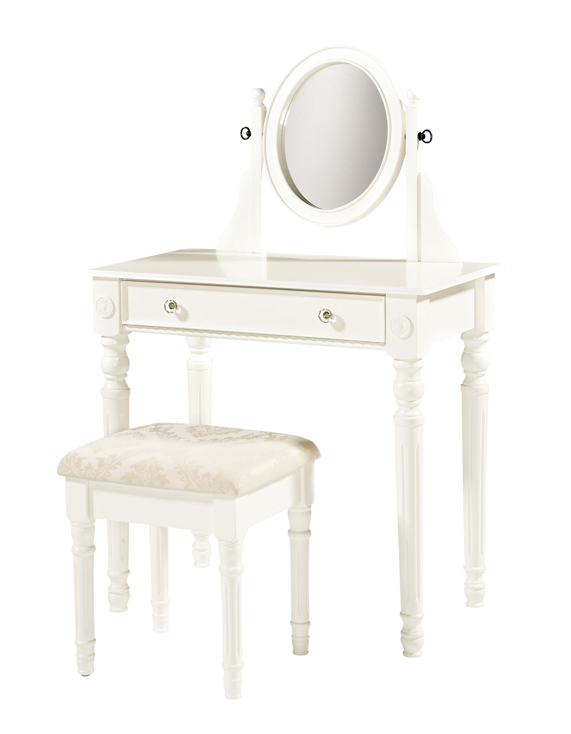Linon Home Decor Lorraine Vanity Set, White
