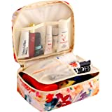 HiDay Travel Cosmetic Bag Toiletry Organizer Floral Makeup Pouch-Perfect for Your Cheerful Travel