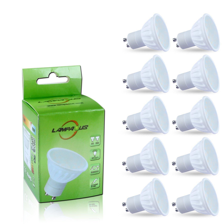 Lampaous 10er Pack LED GU10 4W Neutralweiss gu10 led Spot lampe ...