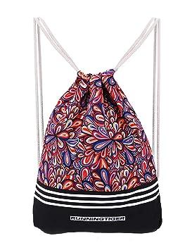 abaría Mochila de Cuerdas con Bolsillo Cremallera, Bolsas de Gimnasio Impermeable Mochila Saco para Mujer Hombre Infantil