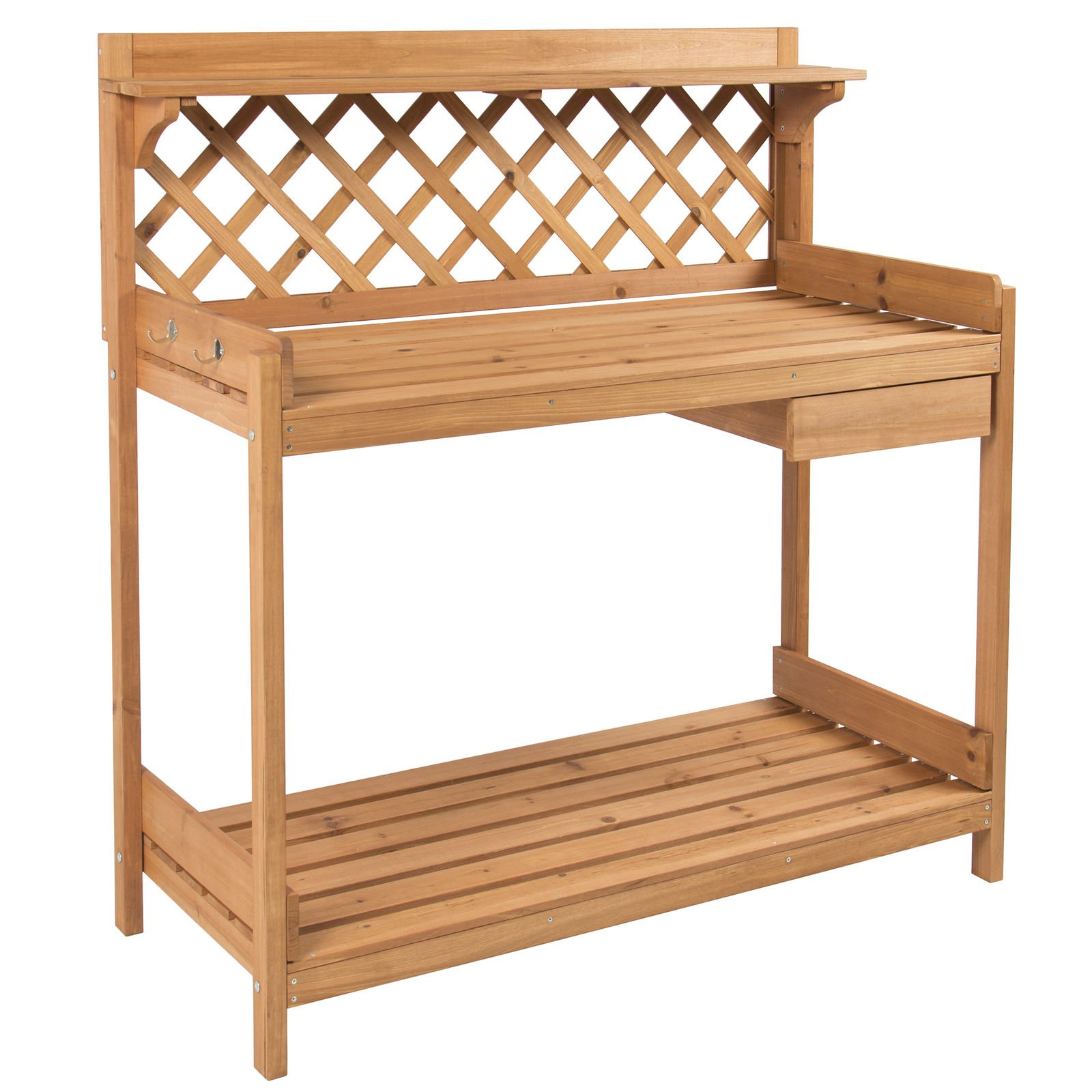 Patio Chairs, Swings & Benches NEW Potting Bench Outdoor Garden Work Bench Station Planting Solid Wood Construction