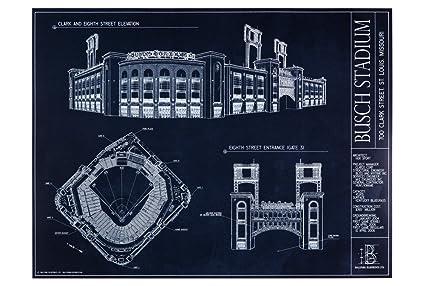 Amazon busch stadium blueprint print posters prints busch stadium blueprint print malvernweather Gallery