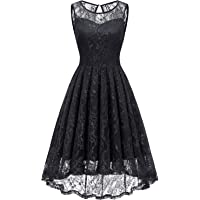 Gardenwed Women's Homecoming Dress Vintage Lace Bridesmaid Dress High Low Cocktail Formal Swing Dress