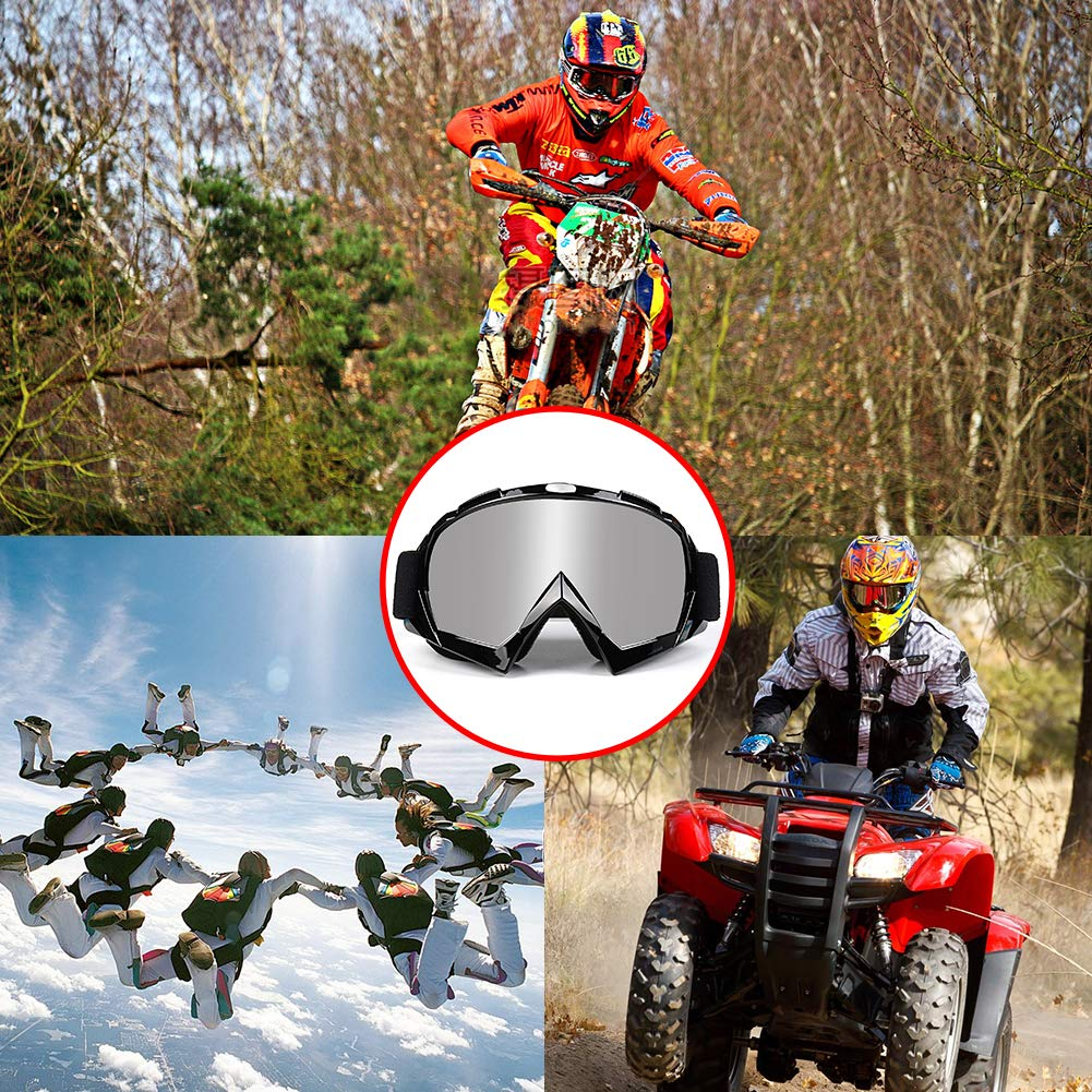 Amazon.com: Venhoo Motocross Goggles Dirt Bike ATV Motorcycle Off Road Racing MX Goggles UV Protection Dustproof Bendable Moto Riding Eyewear Glasses with ...