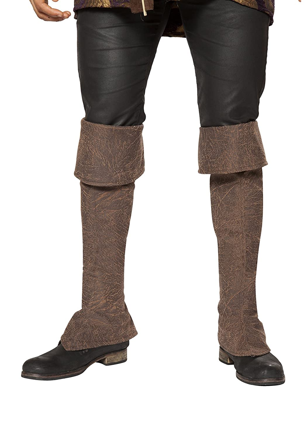 Roma Costume Mens Pirate Boot Covers with Zipper Detail