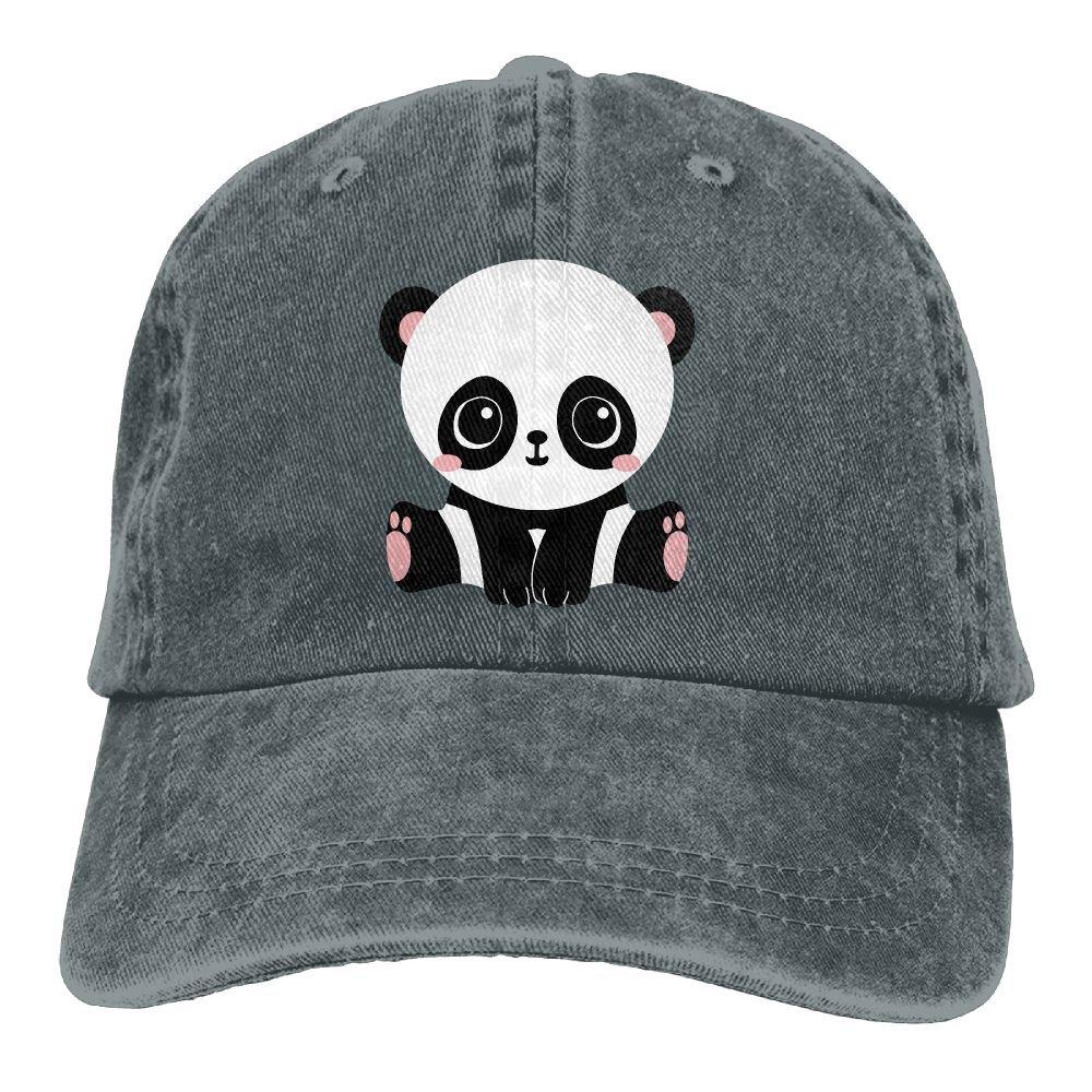 GqutiyulU Adorable Panda Adult Cowboy Hat Asphalt