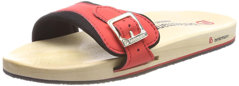Mehrfarbig (Rot Schwarz Berkemann Unisex-Erwachsene Berkilette Pantoletten, Rot Schwarz