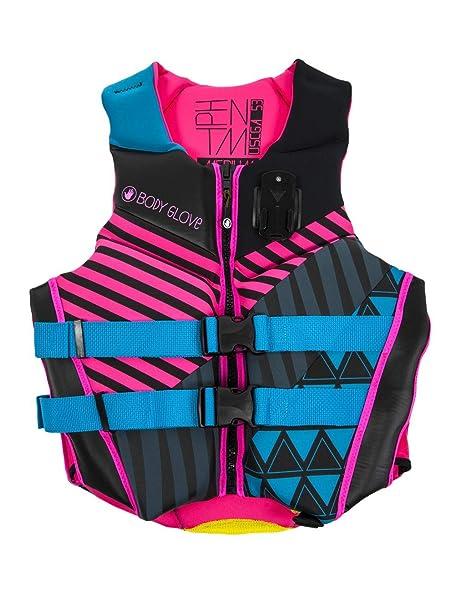 Body Glove Women's Phantom Uscga Life Vest, Medium, Aqua Pink