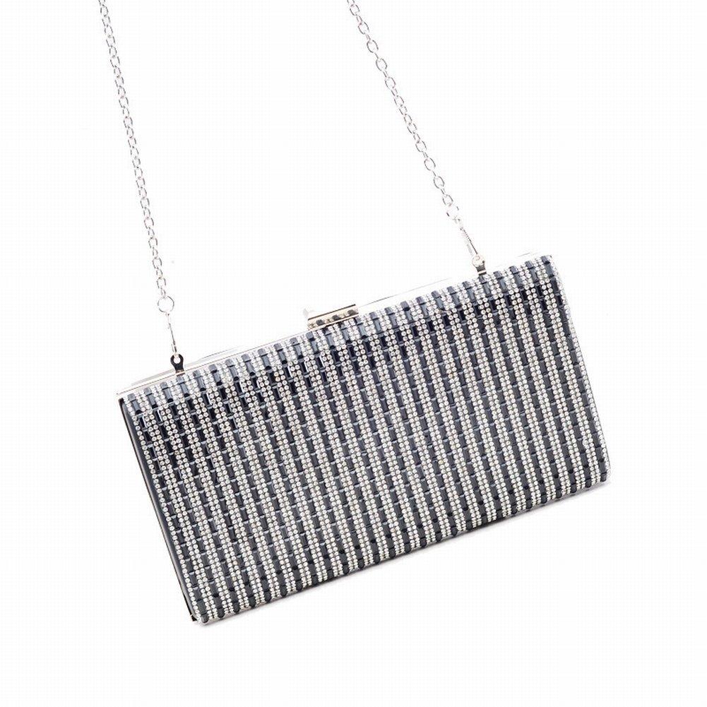 Fashion High-End-Diamant-Besetzte Abendtasche Handtasche Tasche Handtasche , schwarz