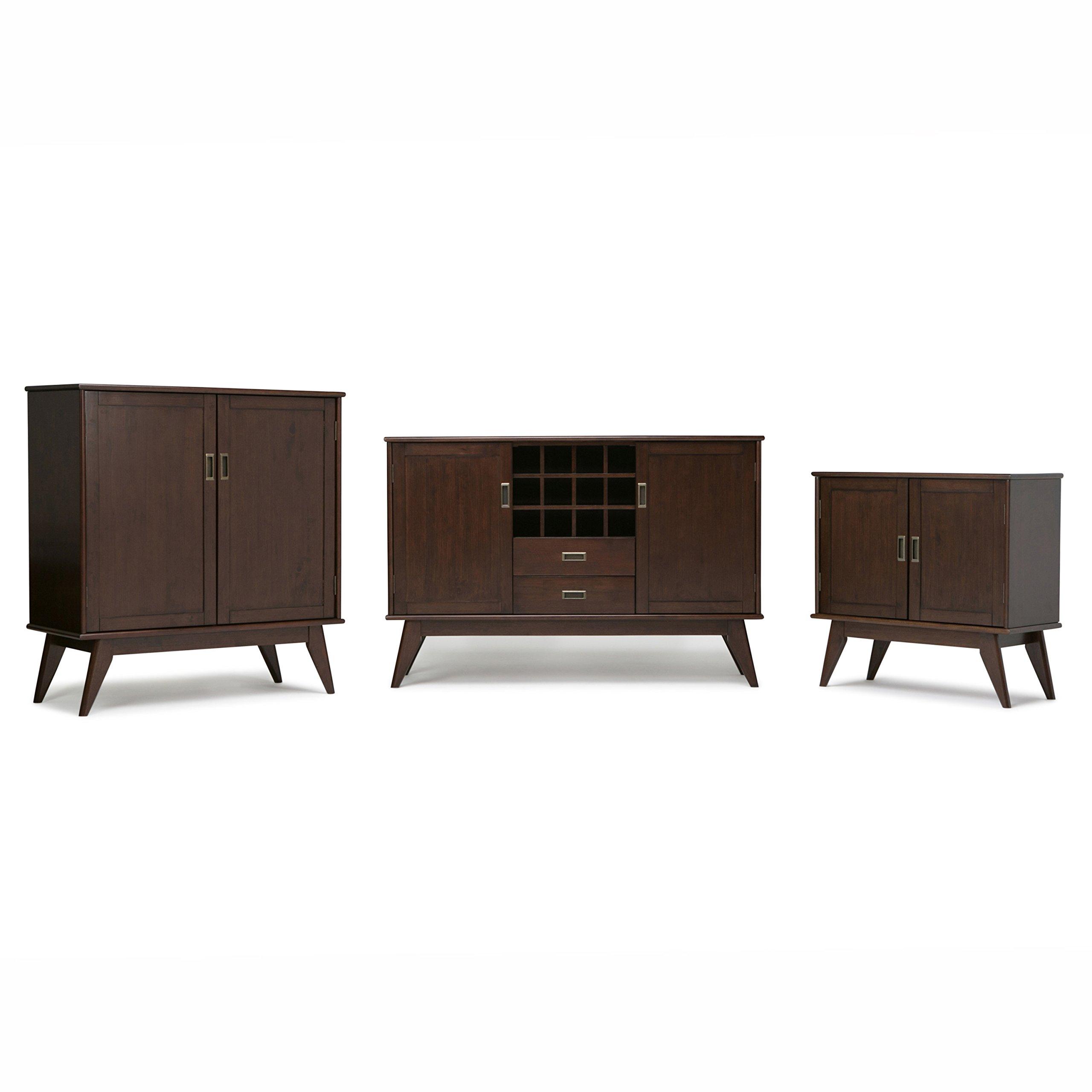 Simpli Home Draper Mid Century Solid Hardwood Storage Cabinet, Medium, Auburn Brown by Simpli Home (Image #5)