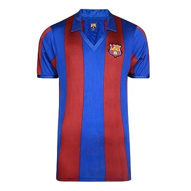 FCB FC Barcelona - Camiseta Oficial de FC Barcelona Retro 1982 ...