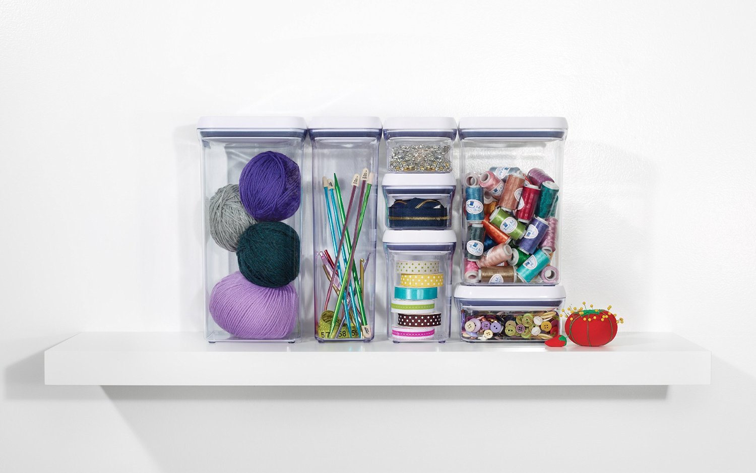 OXO Good Grips 20-Piece POP Container Set, White