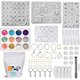 DIYcraft Resin Jewelry Molds, 4Pcs Silicone Jewelry Molds for Epoxy Resin,UV Resin, Resin Casting Molds for Jewelry Making In