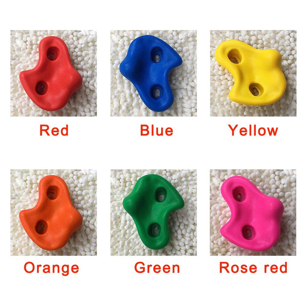 Shni UK 10pcs Mounting Hardware T-nut T Pronged Climbing Four Claw Screws Rose Red