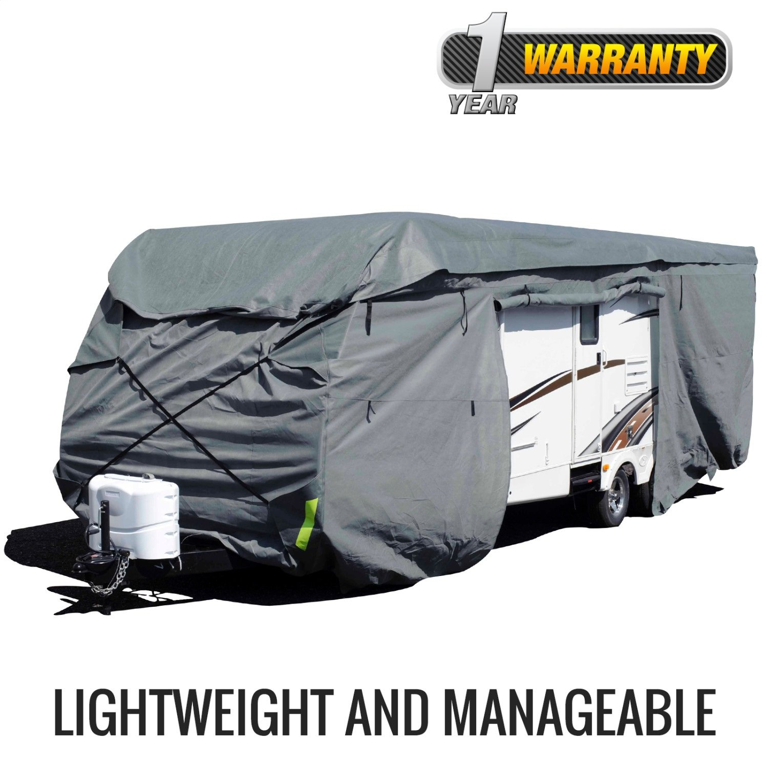 Budge Toy Hauler RV Covers Fits Toy Hauler RVs up to 21' Long (Gray, Polyproplyene) RVRB-50