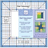 June Tailor 6-1/2-Inch Outer 3-1/2-Inch Inner Get Squared Ruler