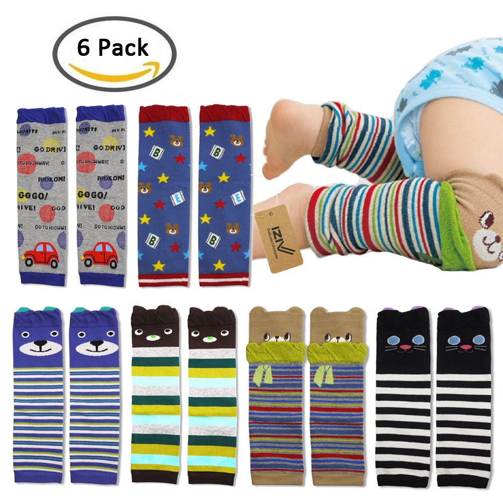 iZiv(TM) 6 PACK Cute Baby Toddler Leg Sleeve Warmers - Knee Socks Protector Warmer for Girl 0-3 Years Dlife FB0241