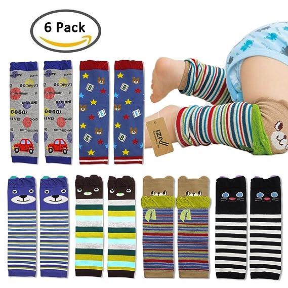 iZiv(TM) Bebé Pierna Calentadores de Manga - Paquete de 6 Diseños Calentador de Rodilla Calcetines de Dibujos Animados para niño 0-3 años: Amazon.es: Bebé
