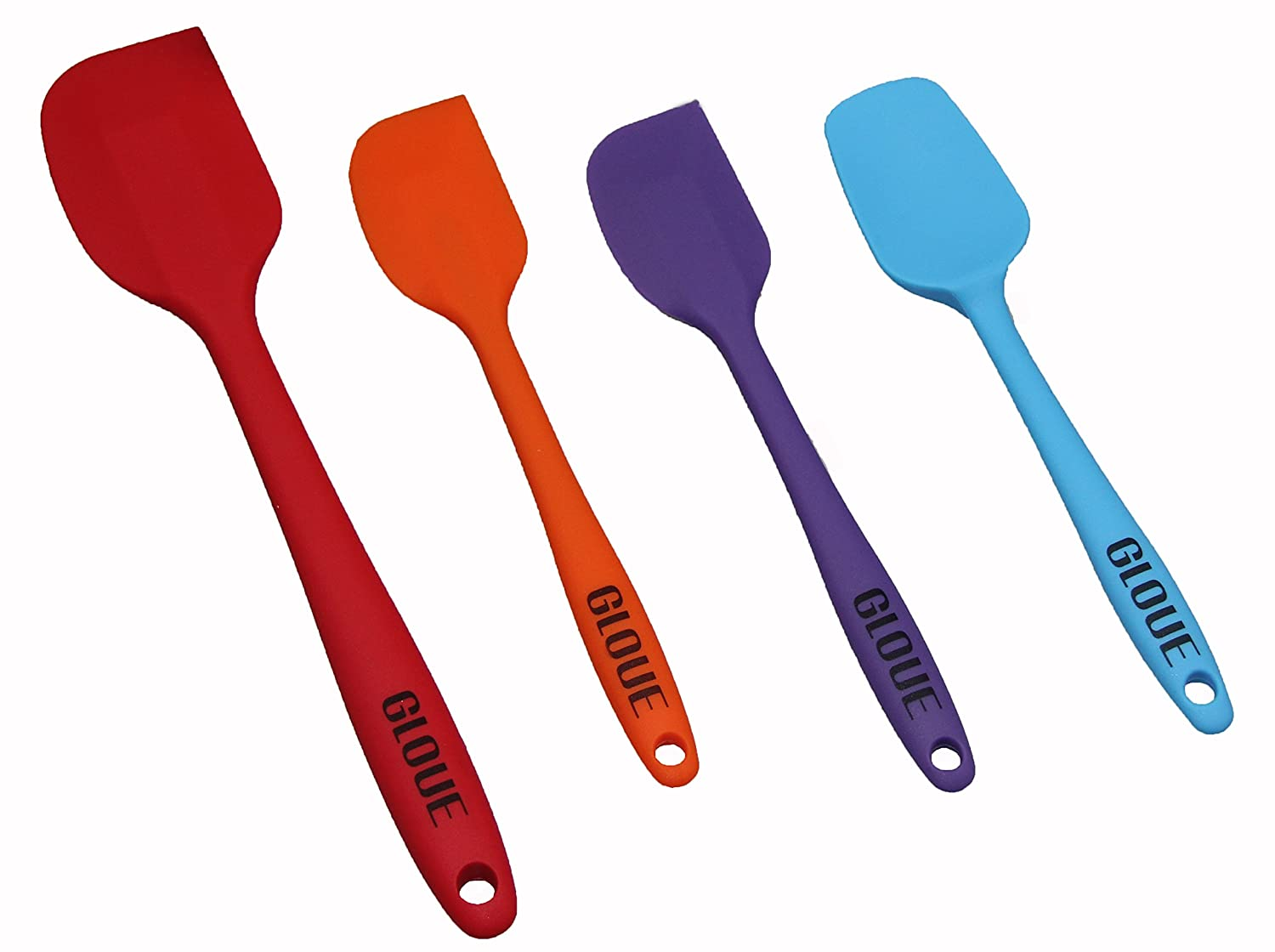 GLOUE 4-Piece Silicone Spatula Set