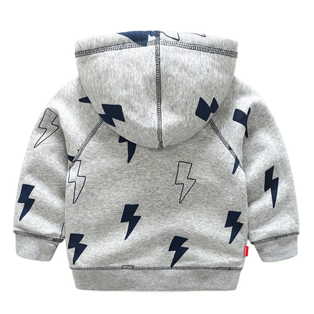 SanReach Little Boys Thunder Flash Printed Hooded Jacket Coat Cotton Lined Outerwear