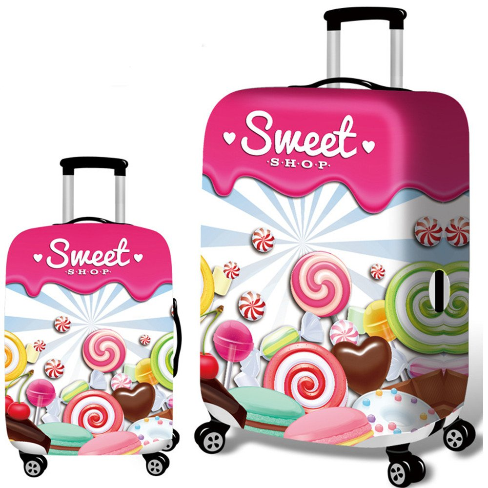 Cute 3D Pirate Pattern Luggage Protector Travel Luggage Cover Trolley Case Protective Cover Fits 18-32 Inch