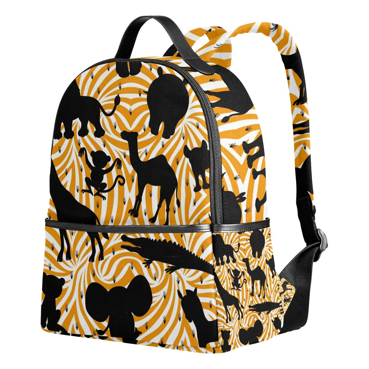 AHOMY African Lion Sports Gym Bag with Shoes Compartment Travel Duffel Bag
