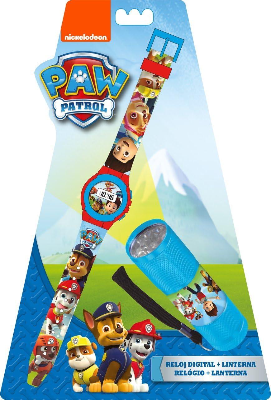 Kids Licensing Set Reloj Digitale, lámpara 9 LED, Pat Patrulla ...