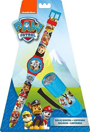 Kids Licensing Set Reloj Digitale, lámpara 9 LED, Pat Patrulla: Amazon.es: Juguetes y juegos