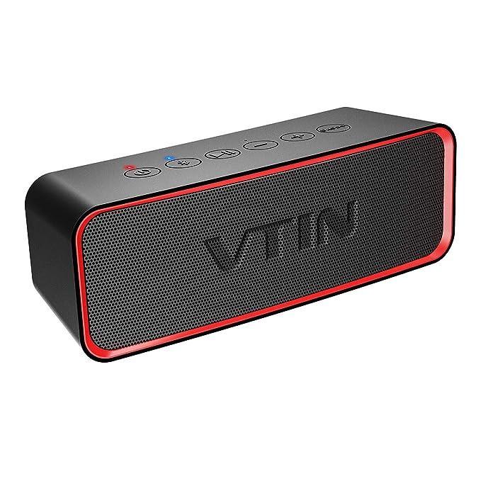 de202b429306af Vtin R2 Portable Bluetooth Speaker, IPX6 Waterproof Bluetooth Speaker with  Rich Bass, 14W Loud