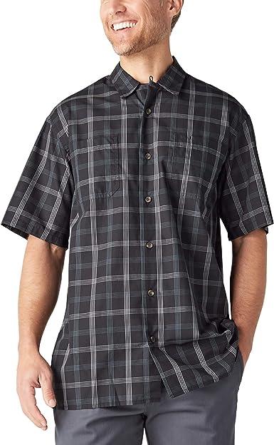 Dickies Camisa de campamento de manga corta teñida con hilo para hombre: Amazon.es: Ropa y accesorios