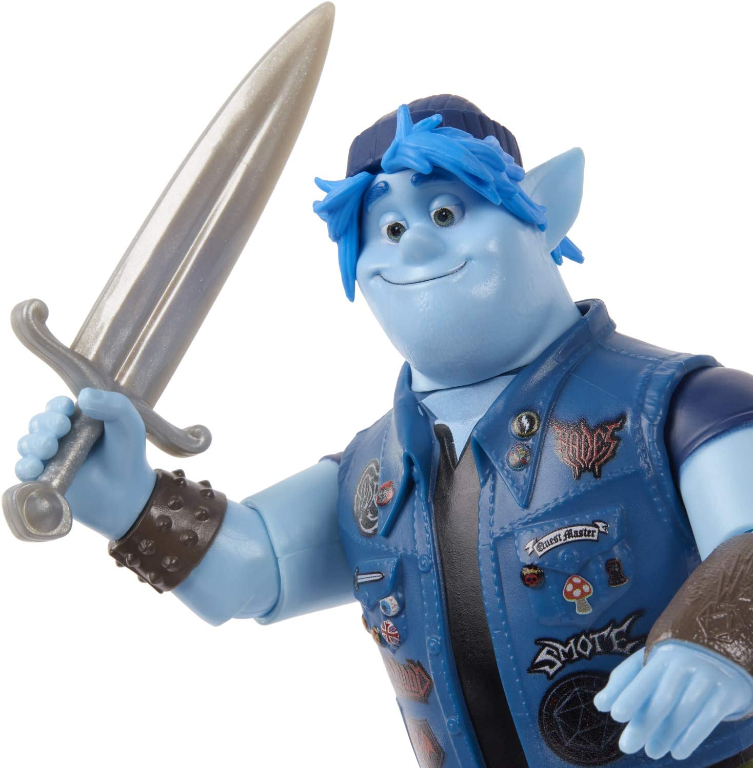 Mattel Disney Pixar Onward Barley Lightfoot Poseable Figure with Sword Age 3+