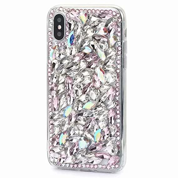 more photos 2f0f7 cc3db iPhone Xs Max Diamond Case,iPhone Xs Max Crystal Rhinestone Case,Luxurious  Shining Girls Soft Rubber Bumper Sparking Bling Glitter Diamond Cover for  ...