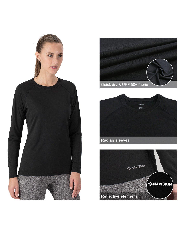 NAVISKIN Damen-T-Shirt mit Sonnenschutz UPF 50+ lang/ärmelig UV-Outdoor