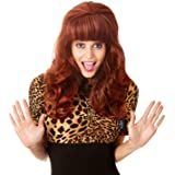 80s Married Housewife Big Red Wig 80s Costumes for Women Big Bouffant Hair Beehive Wigs Fits All