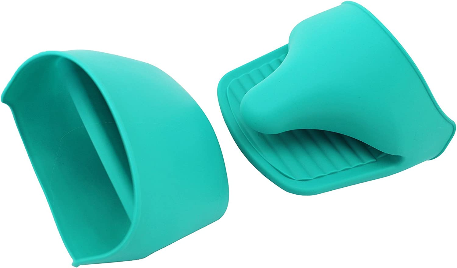 vinstar Silicone Mini Oven Mitts/Gripper, Blue, Set of 2
