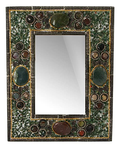 Amazon com - Ganesh Mall Artistic Stone Picture Frame, Green -