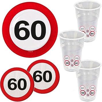 39 piezas Party * 60 cumpleaños * con señal de tráfico de ...