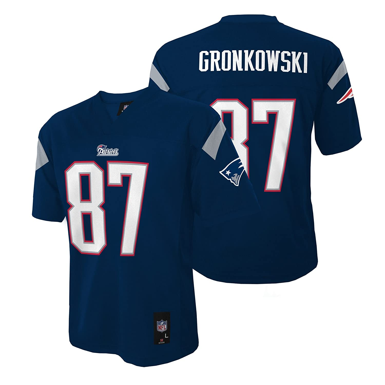 best sneakers 4952e da5f5 NFL Youth Boys 8-20 New England Patriots Rob Gronkowski Jersey, Small (8),  Dark Navy