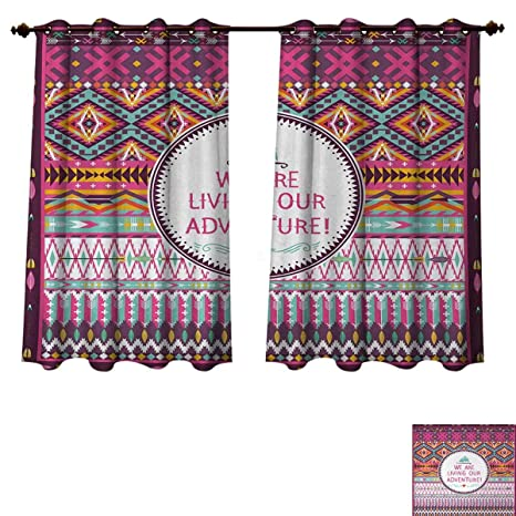 Amazon com: Anzhouqux Ethnic Blackout Thermal Curtain Panel