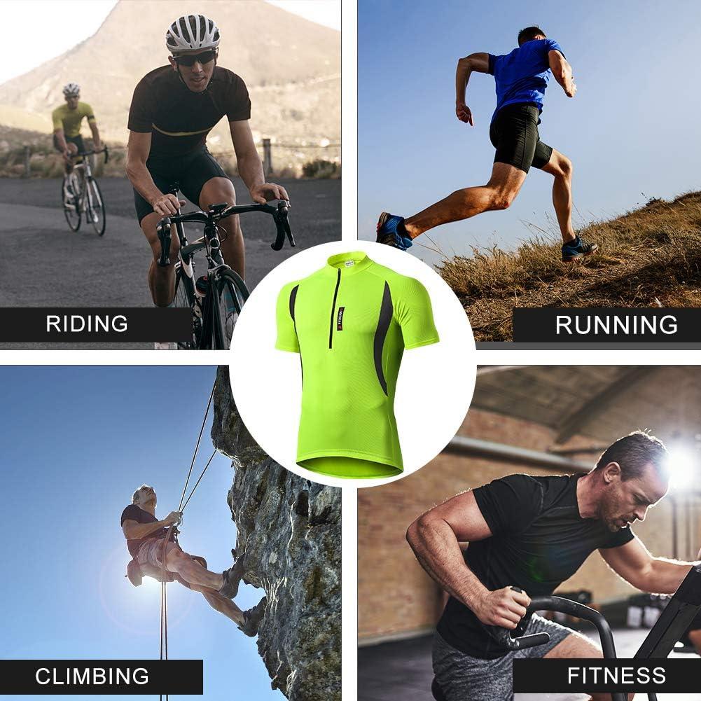 Hombre Maillot de ciclismo para hombre secado r/ápido para ciclismo de monta/ña tama/ño medium MEETWEE transpirable color verde de carreras o extremo manga corta