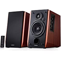 Edifier R1700BT Bluetooth Bookshelf Speakers - Active Near-Field Studio Monitors -Powered Speakers 2.0 Setup Wooden Enclosure